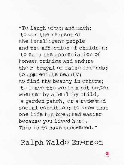 ralph waldo emerson success